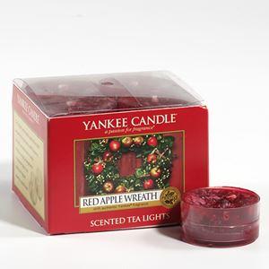 Bild von Red Apple Wreath TEA LIGHTS