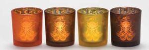 Bild von Warm Glow Votive Holder brown Sampler Halter braun