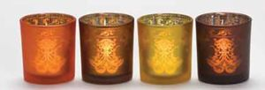 Picture of Warm Glow Votive Holder amber Sampler Halter bernstein