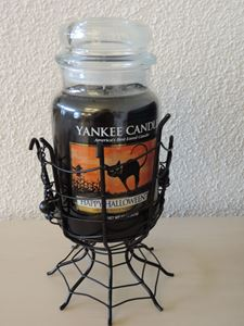 Picture of Halloween Spider Webs  Jar Holder