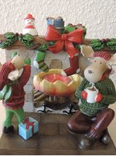 Picture of Merry Moose Fireplace  Tea Light Holder