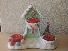 Picture of Sugar Plum Village  Multi Tea Light Holder