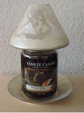 Picture of Golden Leaf Jar M + L  Shade + Plate / Schirm + Teller