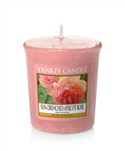 Picture of Sun Drenched Apricot Rose Votives